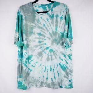 Handmade Tie Dye Spiral Ombre shirt Stretch crew